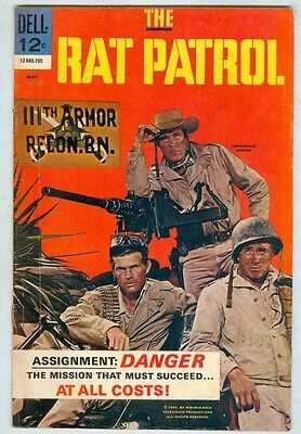 The Rat Patrol #3 May 1967 VG Photo Cover