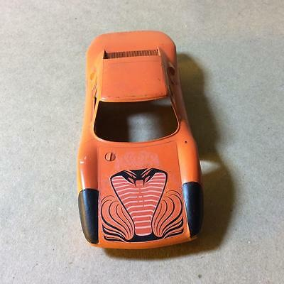 Vintage 1965 Monogram Slot Car Body -- Snakebite PORSCHE -- Orange