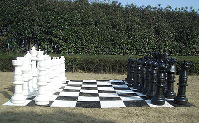 Giant 90cm Plastic Chess, Checkers, Mat and Mat Package