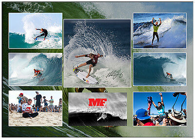 Mick Fanning Surfing Champion Signed Surfing Matted Photo Collage