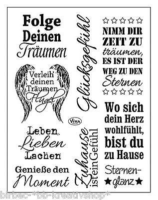 VIVA DECOR Clear Stamps MY PAPER WORLD Silikon Stempel Texte SPRÜCHE II 143