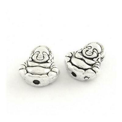Tibetan Buddha Beads 10 x 11mm Antique Silver 20 Pcs Art Hobby Jewellery Making