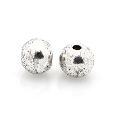 Packet of 30 x Antique Silver Tibetan 6mm Round Spacer Beads HA17480