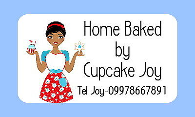65 Personalised Mini Stickers For ,cupcake ,cake Making, Baking Business