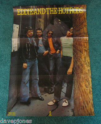 "EDDIE AND THE HOT RODS Teenage Depression Poster 20"" x 30"" Island record UK 1977"