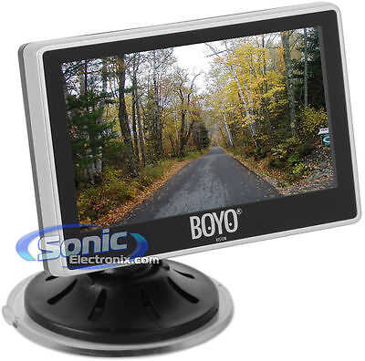 "BOYO Vision VTM4000 4"" Digital Rear View Reverse Monitor w/ Dual-Mount Option"