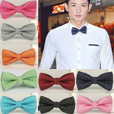 NT Baby Boy Kid Infant Solid Color Wedding Tuxedo Bowties Bow Tie Neckwear