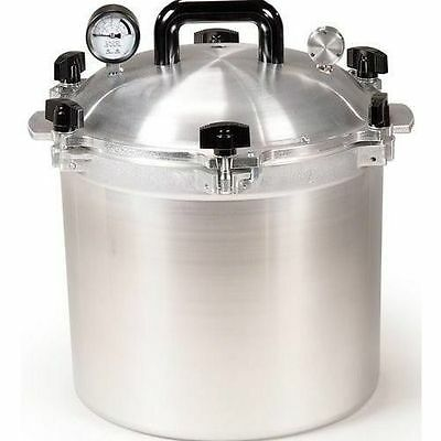 All American 921 21.5 Qt Heavy Cast Aluminum Pressure Cooker / Canner w/ DVD NEW