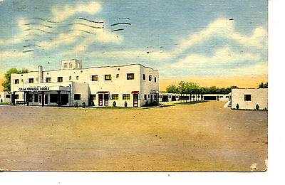 Casa Grande Lodge Motel-Route Hwy 66-Albuquerque-New Mexico-Vintage Adv Postcard