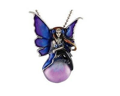 Floating Fairy Pewter Necklace