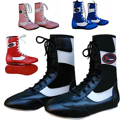 New Junior/&Adults Faux Leather Boxing Boots Rubber Sole Boots Short Ankle Boots