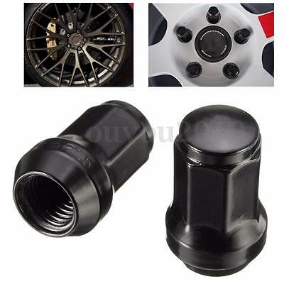 20pc M12x1.5 Lug Nuts with Key | Cone Seat | Long Closed End | Black