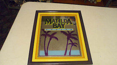 Beautiful Miiler Beer Brewing Matilda Bay Wine Cooler Double Framed Mirror Sign