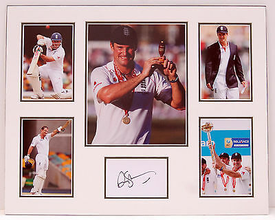 Andrew STRAUSS Signed Autograph MOUNTED Photo DISPLAY AFTAL COA England Cricket