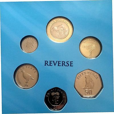 Gibraltar 2014  Official Set 7  Coins New Design With 2 Pounds Bimetal