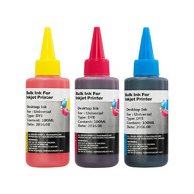 Universal Printer Ink for CISS or Refillable Cartridges for HP 364 x3 100ml CMY