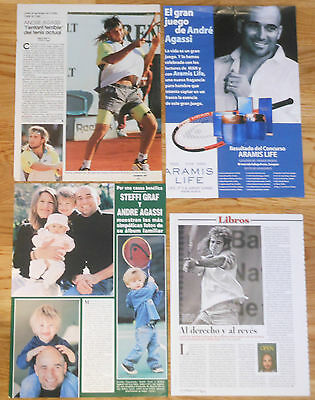 ANDRE AGASSI spanish clippings 1990s/10s Tennis Tenis photos Steffi Graf