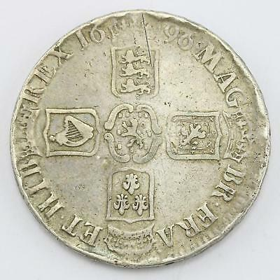 William III 1696 Early Milled Fine .925 Sterling Silver Crown