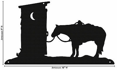 SWEN Products OUTHOUSE COWBOY WESTERN Simple Silhouette