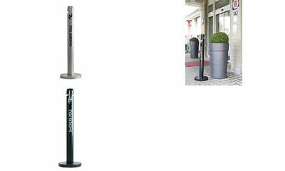 Rubbermaid Standascher Smokers' Pole, rund, schwarz