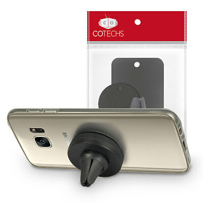 Cotechs - Magnetic Magnet Disc In Car Mobile Phone Holder Air Vent Mount Kit