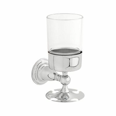 75056 Victorian Polished Chrome Bath Toothbrush & Tumbler Holder