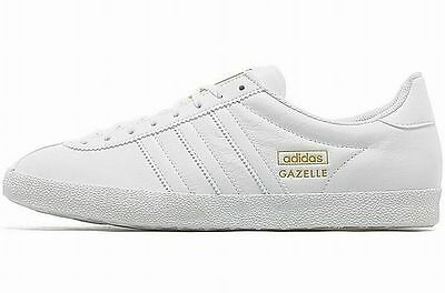 ADIDAS GAZELLE OG LEATHER White-Gold old school retro sneakers new ...