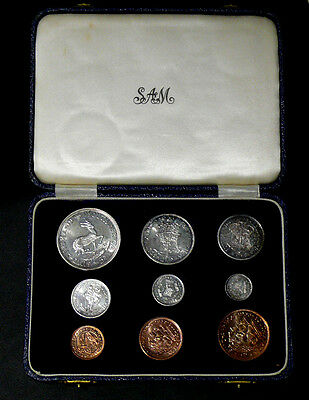 1955 South Africa 9 Coin Mint Set**RARE LIMITED EDITION**