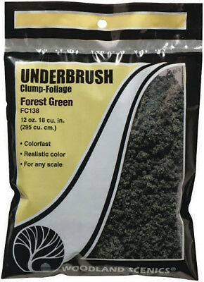 Woodland Scenics Model Railroad Landscape Underbrush Clump-Foliage Forest Green