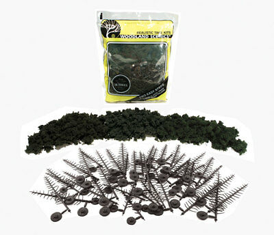 """Woodland Scenics Realistic Trees Kits Pines Forest Green 2-1/2"""" to 6"""" 24-Pack"""