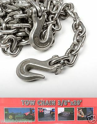 "3/8"" X 20ft Tow Chain Automotive Truck Towing Log Chain"