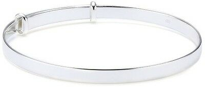 Sterling Silver  Baby's Christening plain bracelet For babies Up To 9 Months