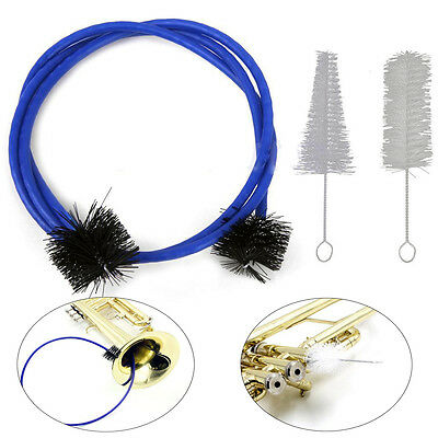 New 3-in-1 Trumpet Cleaning Brushes Maintenance Care Kit with 3 Brushes