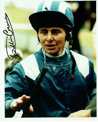Willie CARSON Signed Autograph 10x8 Photo AFTAL COA Jockey Horse Racing Genuine