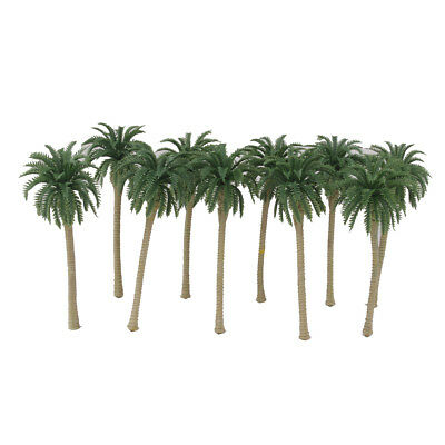 10 Plastic Model Trees Artificial Coconut Palm Tree Rainforest Scenery 1:100