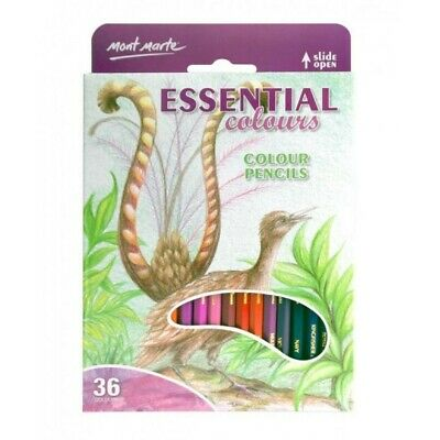 Mont Marte Colour Pencils 36pce - Essential Colours Great Beginners Set for Sket