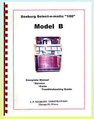 Seeburg B Jukebox Service Parts  Troubleshooting Manual