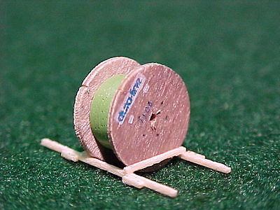 Z Scale OLD  CABLE SPOOL w/ GREEN  CABLE Load  #14306