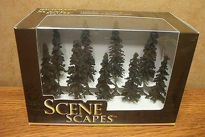 "Bachmann Scene Scapes 3"" - 4"" Conifer Trees   9 Trees/box"