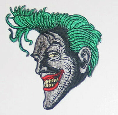 Batman Animated TV Show The Joker Smiling Face Embroidered Patch NEW UNUSED