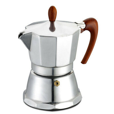 GAT Cafe Caffe - Stovetop Induction Espresso Maker - Aluminium - Silver - 3 Cups