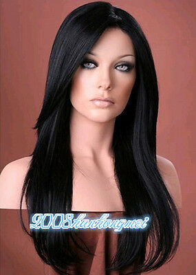 Fashion wig New sexy Women's Black Cosplay Straight Hair Full Natural Wigs