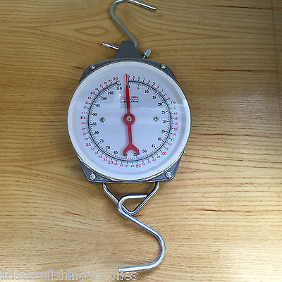 New 50kg 110lb Specimen Weigh Scales Carp Coarse Fishing Weighing Dial Scale