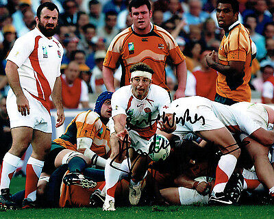 Andy GOMARSALL Signed Autograph 10x8 Photo AFTAL COA RUGBY England World Cup