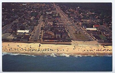 REHOBOTH BEACH DE early Aerial View Beach Homes d postcard