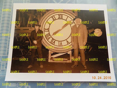 """Back to the Future - Marty & Doc with the Clock Photo Prop Reproduction 8""""x10"""""""