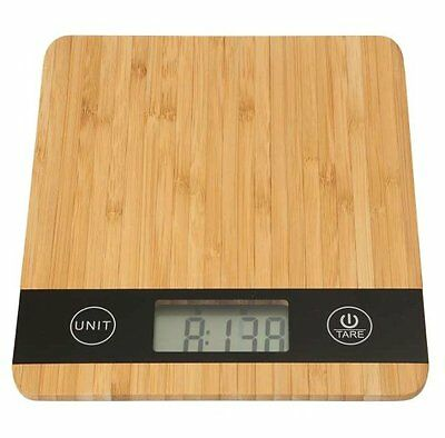 Dexam BAMBOO DIGITAL Kitchen SCALES - Weights up to 5kg LCD Display