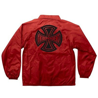 Independent Trucks SUBDUE Coach Windbreaker Jacket RED LARGE