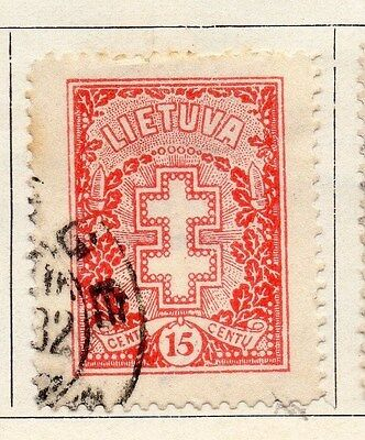 Lithuania 1926 Early Issue Fine Used 15c. 055505