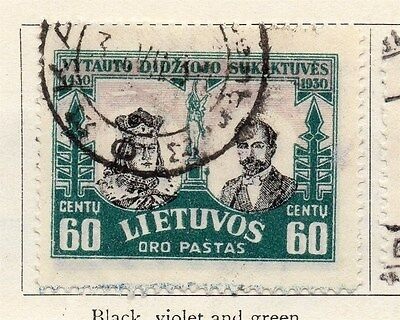 Lithuania 1930 Air Stamp Early Issue Fine Used 60c. 055532